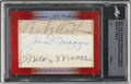 Baseball Cards:Autographs, 2017 Leaf Executive Collection Masterpiece Babe Ruth, Joe DiMaggio, Mickey Mantle & Lou Gehrig Signed Cut Signature Card....