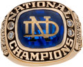 Football Collectibles:Others, 1973 Notre Dame Fighting Irish National Champions Ring Presented to Paul Sawicz. ...