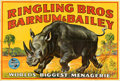 Movie Posters:Miscellaneous, Ringling Bros. and Barnum & Bailey (Ringling Bros. and Barnum & Bailey Combined Shows, 1946). Folded, Very Fine. Linen Banne...