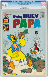 Baby Huey and Papa #12 File Copy (Harvey, 1964) CGC NM/MT 9.8 Off-white to white pages