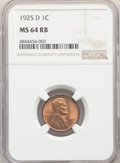 1925-D 1C MS64 Red and Brown NGC. NGC Census: (140/43). PCGS Population: (304/49). CDN: $200 Whsle. Bid for NGC/PCGS MS6...
