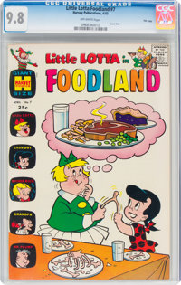 Little Lotta Foodland #7 File Copy (Harvey, 1965) CGC NM/MT 9.8 Off-white pages