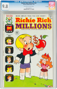 Richie Rich Millions #64 File Copy (Harvey, 1974) CGC NM/MT 9.8 Off-white to white pages
