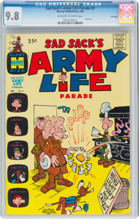 Sad Sack's Army Life Parade #2 File Copy (Harvey, 1964) CGC NM/MT 9.8 Off-white to white pages