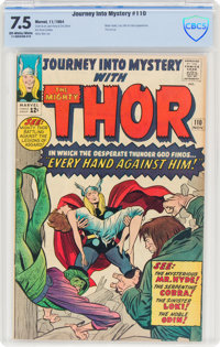 Journey Into Mystery #110 (Marvel, 1964) CBCS VF- 7.5 Off-white to white pages