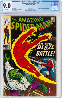 The Amazing Spider-Man #77 (Marvel, 1969) CGC VF/NM 9.0 White pages