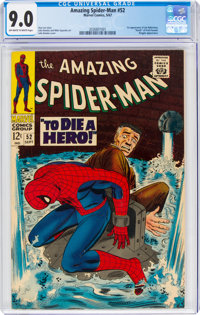 The Amazing Spider-Man #52 (Marvel, 1967) CGC VF/NM 9.0 Off-white to white pages