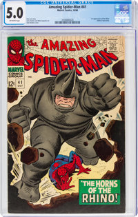 The Amazing Spider-Man #41 (Marvel, 1966) CGC VG/FN 5.0 Off-white pages