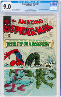 The Amazing Spider-Man #29 (Marvel, 1965) CGC VF/NM 9.0 Off-white to white pages