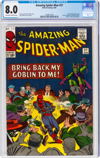 The Amazing Spider-Man #27 (Marvel, 1965) CGC VF 8.0 Off-white to white pages
