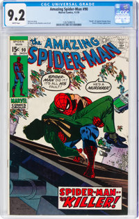 The Amazing Spider-Man #90 (Marvel, 1970) CGC NM- 9.2 White pages