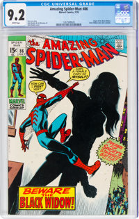 The Amazing Spider-Man #86 (Marvel, 1970) CGC NM- 9.2 White pages