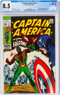 Silver Age (1956-1969):Superhero, Captain America #117 (Marvel, 1969) CGC VF+ 8.5 Off-white to white pages....