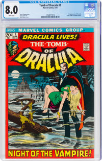 Tomb of Dracula #1 (Marvel, 1972) CGC VF 8.0 White pages