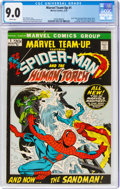 Bronze Age (1970-1979):Superhero, Marvel Team-Up #1 Spider-Man and the Human Torch (Marvel, 1972) CGC VF/NM 9.0 White pages....