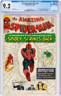 Silver Age (1956-1969):Superhero, The Amazing Spider-Man #19 (Marvel, 1964) CGC NM- 9.2 Cream to off-white pages....
