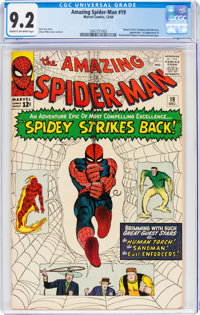 The Amazing Spider-Man #19 (Marvel, 1964) CGC NM- 9.2 Cream to off-white pages