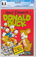 Golden Age (1938-1955):Cartoon Character, Four Color #178 Donald Duck (Dell, 1947) CGC VF+ 8.5 Off-white to white pages....