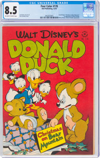 Four Color #178 Donald Duck (Dell, 1947) CGC VF+ 8.5 Off-white to white pages