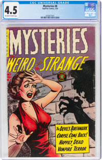 Mysteries #8 (Superior Comics, 1954) CGC VG+ 4.5 Off-white to white pages