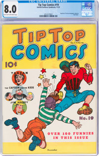 Tip Top Comics #19 (United Feature Syndicate, 1937) CGC VF 8.0 Light tan to off-white pages