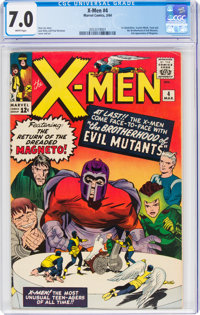 X-Men #4 (Marvel, 1964) CGC FN/VF 7.0 White pages