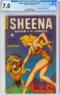 Golden Age (1938-1955):Adventure, Sheena, Queen of the Jungle #15 (Fiction House, 1952) CGC FN/VF 7.0 Off-white pages....
