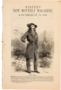 """""""Wild Bill"""" Hickok: A Rare 1867 Magazine with Illustrated Feature Article about his Exploits"""