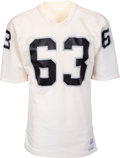 Football Collectibles:Uniforms, Late 1970's Gene Upshaw Game Worn Oakland Raiders Jersey - Six Team Repairs!...