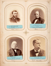 19th Century Cabinet Photos: A Remarkable Original Album Including Approximately 100 Identified Celebrity Images
