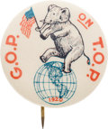Political:Pinback Buttons (1896-present), Warren G. Harding: Clever and Colorful Cartoon Pin....