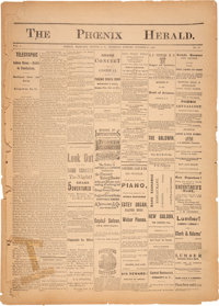 """The Phoenix Herald Newspaper With Excellent Details Of """"The Gun Fight At The OK Corral"""". The Best Newspaper Ac..."""