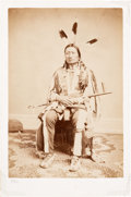 Photography:Studio Portraits, (Iron Nation) Ma'-Zu-Oya'-Te Brule', Sioux Albumen Photograph....