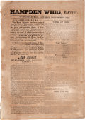 Political:Posters & Broadsides (pre-1896), Hamden Whig Broadside Extra: Announcing Re-Election Of Andrew Jackson....