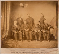 (Andrew Johnson): Large Albumen Photograph Of Impeachment Managers