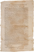 Military & Patriotic:Revolutionary War, Revolutionary Broadside: Calling for Troops From Massachusetts April 20, 1778....