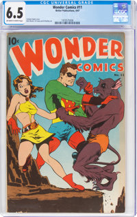 Wonder Comics #11 (Better Publications, 1947) CGC FN+ 6.5 Off-white to white pages