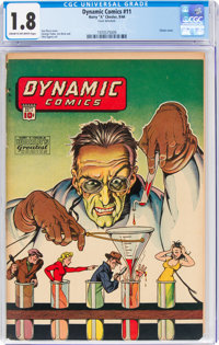 Dynamic Comics #11 (Chesler, 1944) CGC GD- 1.8 Cream to off-white pages