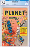 Golden Age (1938-1955):Science Fiction, Planet Comics #63 (Fiction House, 1949) CGC FN/VF 7.0 Off-white pages....