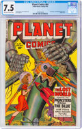 Golden Age (1938-1955):Science Fiction, Planet Comics #64 (Fiction House, 1950) CGC VF- 7.5 Off-white to white pages....