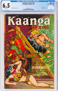 Kaanga Comics #12 (Fiction House, 1952) CGC FN+ 6.5 Off-white pages