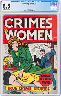 Crimes by Women #13 (Fox Features Syndicate, 1950) CGC VF+ 8.5 Off-white to white pages