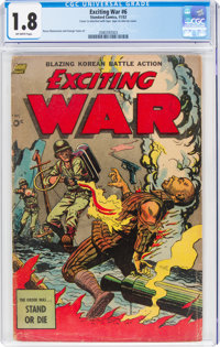 Exciting War #6 (Standard, 1952) CGC GD- 1.8 Off-white pages