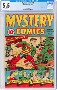 Mystery Comics #2 (Wise Publications, 1944) CGC FN- 5.5 White pages