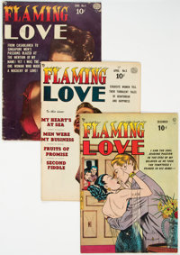 Flaming Love #1, 3, and 4 Group (Quality, 1949-50) Condition: Average VG.... (Total: 3 )