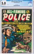 Golden Age (1938-1955):Crime, All-Famous Police Cases #10 (Star Publications, 1953) CGC VG/FN 5.0 Off-white to white pages....