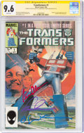 Modern Age (1980-Present):Superhero, Transformers #1 Signature Series: Bill Sienkiewicz (Marvel, 1984) CGC NM+ 9.6 White pages....