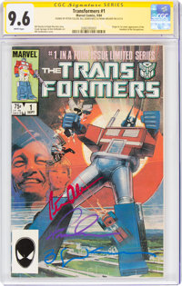 Transformers #1 Signature Series: Bill Sienkiewicz (Marvel, 1984) CGC NM+ 9.6 White pages