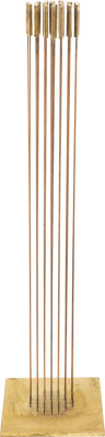 """Val Bertoia (American, b. 1949) Round of Sound (B-2237), 2019 27 brass """"Cattail"""" tops silvered to be"""