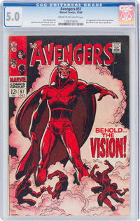 The Avengers #57 (Marvel, 1968) CGC VG/FN 5.0 Cream to off-white pages